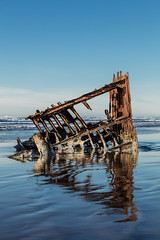 2016-01-10 - Peter Iredale Shipwreck-48 (www.bazpics.com) Tags: ocean sea usa beach water oregon america skeleton sand ship pacific or wave peter shipwreck frame hull wreck iredale