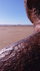 Statue (neilbrewer) Tags: beach statue metal liverpool antonygormley anotherplace