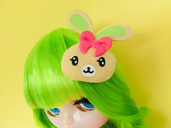 Midori Watermelon Muffin (Helena / Funny Bunny) Tags: blythe custom rbl reroot funnybunny solidbackground nostalgicpop midoriwatermelonmuffin