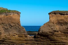 View Through the Cliffs (Stuart Tarn) Tags: sea england cliff water spring sandstone unitedkingdom northumberland gb redrocks northeast howick boulmer