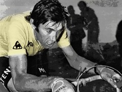 1974 TDF Merckx Total Effort Always Everywhere! (Sallanches 1964) Tags: 1974 tourdefrance yellowjersey eddymerckx thegreatest mountainstage thecannibal belgianhistory worldchampionroadcycling belgiancyclists