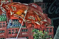 a coke umbrella (Pejasar) Tags: red india umbrella cola coke layers punjab