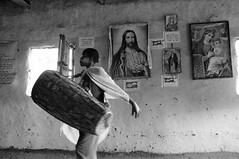 Ethiopia (on explore) (silvia.alessi) Tags: africa travel light blackandwhite bw music church window photo child god drum religion jesus ngc picture omovalley ethiopia orthodox travelphotography
