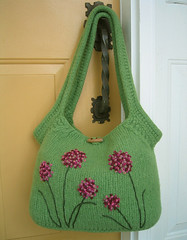 ashling tote felted purse (Heidi Knits n Purls) Tags: felted knitting handmade embroidery