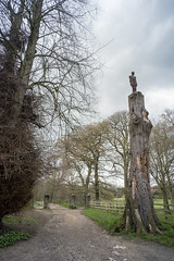 One & Other (the underlord) Tags: sculpture tree art gate path yorkshire wakefield bretton ysp yorkshiresculpturepark anthonygormley oneother voigtlander15mmsuperwide