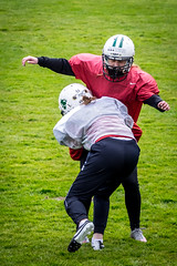 Training (TS_1000) Tags: football bulldogs bielefeld americanfootball radrennbahn