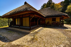 Old-folk-house2 (yoshikazu kuboniwa) Tags: old houses roof house building tree green history architecture rural landscape outside outdoors countryside ancient exterior village outdoor folk traditional rustic villages historic historical cultural exteriors timbered