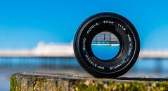 Walking (SteveW@aps) Tags: beach lens sussex worthing throughthelens