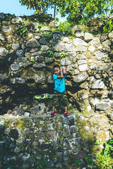 Cagsawa Ruins, Philippines (The Dame of all Trades) Tags: travel nikon philippines landmark cagsaua lightroom pacificislands cagsawaruins travelphotography dallasphotographer kasawa d3100