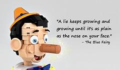 LEGO Ideas Pinocchio's nose growing (buggyirk) Tags: cute brick classic lego adorable disney cricket figure minifig cuteness walt ideas pinocchio marionette jiminy minifigure moc disneys afol pinoke brickbuilt buggyirk jiminyc