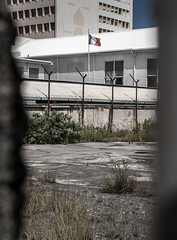 BARBED POLICE (LA GRANDE TERRE) Tags: lumix flag police panasonic prison newcaledonia nouvellecaledonie par secluded lightroom penitentiary noumea bleublancrouge excluded policemunicipale provincesud municipalpolice lx100 southprovince christopheroberthervouet photoshopcc