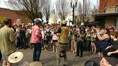 Getting In On The Act - VIDEO (swong95765) Tags: musician dance audience drum bongo crowd performance entertainer busker performer streetact