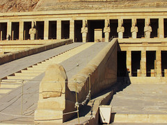 Queen Hatshepsut's Temple (shaire productions) Tags: world travel mountain building history architecture temple photography design photo rocks exterior image hill sightseeing picture landmark structure architectural photograph limestone historical sight valleyofthekings imagery ancientegypt queenhatshepsut ancientegyptians egyptandthenile