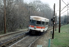 SEPTA NHSL Apr90 12 (jsmatlak) Tags: philadelphia electric train railway bullet interurban septa norristown brill pw