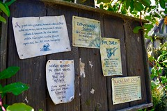 Wheelwiral Wanted (Cat Parrish ) Tags: newzealand forsale medieval noticeboard fantasy waikato lordoftherings postalservice thehobbit hobbiton matamata theshire bucklandfair workersrequired