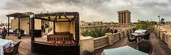 Barjeel Heritage Guest House roof terrace (iSteven-ch) Tags: roof architecture dubai terrace uae historic unitedarabemirates ae guesthouse windtower arabiantent eos6d travelcanon shandaga barjeelheritageguesthouse
