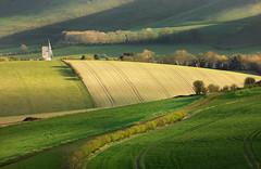 Ashcombe Windmill and Kingston Ridge (Alan MacKenzie) Tags: windmill landscape sussex nationalpark spring shadows fields southdowns