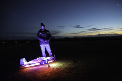 Nightime Glow Remote Control (edna.bucket) Tags: moon plane glow remotecontrol electricplane