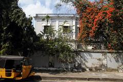 Pondichry - vieille maison pleine de charme (Chemose) Tags: old flowers india house fleurs canon eos coast january cte 7d maison janvier tamilnadu coromandel vieille inde pondicherry southindia pondichry puducherry indedusud