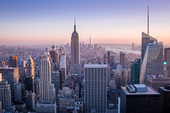 New York City 2016 (mathiaswasik) Tags: sunset usa newyork skyline skyscraper us high mine view unitedstates time dusk air center empirestatebuilding rockefeller