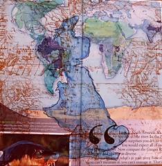 Map.England.collage (SandraNestle) Tags: england art collage britain map alteredart travelplanet sandranestle