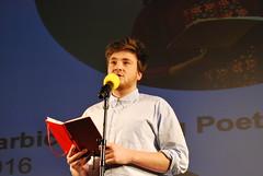 Gabriel Jones, Barbican Young Poets showcase 2016 (aarnlee) Tags: poetry performingarts barbican spokenword