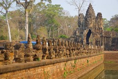Southern Gate to the ancient city of Angkor Thom near Siem Reap, Cambodia (UweBKK ( 77 on )) Tags: city history architecture ancient gate asia cambodia kambodscha sony south entrance statues southern siem reap thom historical portal southeast alpha dslr angkor moat 77 slt
