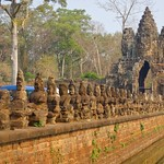 Southern Gate to the ancient city of Angkor Thom near Siem Reap, Cambodia thumbnail