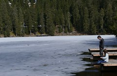 a mountain lake in the Black Forest end of March 2016 (1) (BZK2011) Tags: leica lake see march spring ufer mountainlake bergsee eis schwarzwald blackforest mrz frhjahr mummelsee vlux zugefroren northernblackforest nrdlicherschwarzwald