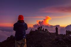 Hay momentos en que siento alcanzar las puertas del cielo (hacer fotografa es toda mi vida) Tags: sunset sky clouds atardecer volcano sanmarcos cima crter volcntajumulco visitguatemala