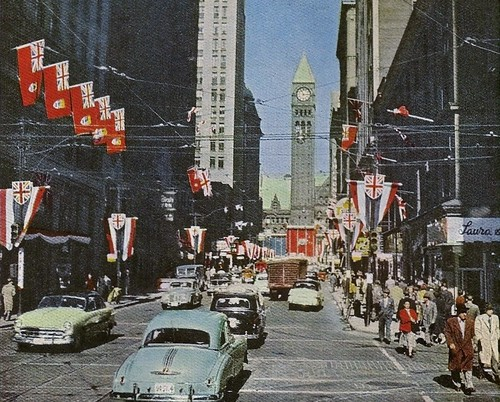 Bay St., Toronto-1954