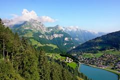 Engelberg (welenna) Tags: blue summer sky mountain lake mountains alps landscape switzerland see view swiss berge alpen engelberg berneroberland schwitzerland