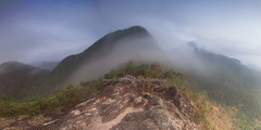 Morning on the Mountai in Koh Chang (baddoguy) Tags: morning sky mountain horizontal fog thailand outdoors island photography nopeople panoramic adventure backgrounds scenics kohchang tranquilscene cloudsky traveldestinations colorimage mountainpeak beautyinnature tratprovince rockobject