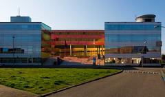 _DSC2271 (durr-architect) Tags: light sun colour reflection netherlands glass architecture modern facade offices almere dfense berkel unstudio