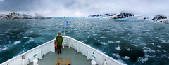 Pano_with_Finn_at_Bow_of_Ship_WEB-1 (idphotodoc) Tags: norway svalbard glaciers artic longyearbyn svalbardarctic nearmonocofiord