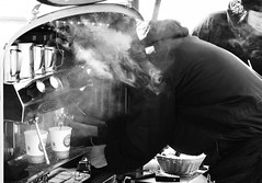 Steamer (F719D) Tags: street city people urban blackandwhite bw white black blancoynegro coffee contrast denmark nikon downtown outdoor streetphotography kbenhavn d7000 nikond7000