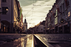 Freiburg 'Kajo' Street (der LichtKlicker) Tags: street architecture germany fuji thomas strasse pedestrian area rails architektur fujifilm freiburg baden tramway strassenbahn breisgau schienen fotowalk sdbaden leuthard fusgngerzohne kaiserjosephstrase colorefexpro4 x100s nikcollection