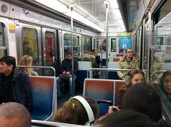 Taking the subway in Paris (Stéphane Juban) Tags: people paris public train subway transport lg hdr nexus metro12