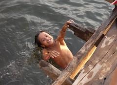 joy in water (mrcharly) Tags: water kids river children asia cambodia kampot cambodja kampuchea preaektuekchhu