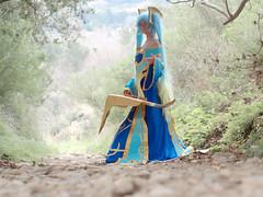 Shooting Sona - League of Legends - Miramas Le Vieux - 2015-12-27- P1260469 (styeb) Tags: blue shoot cosplay lol shooting xml legend league decembre sona retouche 2015 modelneiru
