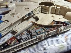 Cutaway progress (Matt_A) Tags: star model cut away millennium falcon wars mpc cutaway amt ertl