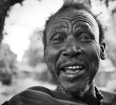 Dassanech Man (Rod Waddington) Tags: africa portrait blackandwhite monochrome village outdoor african traditional culture valle tribal valley afrika omovalley ethiopia tribe ethnic cultural ethnicity afrique ethiopian omo etiopia ethiopie etiopian dassanech