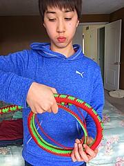 "The ""Christmas Cracker"" (cburton9142@rogers.com) Tags: hobby whip paracord braiding"