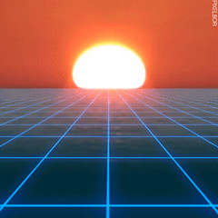 Loop GIF - Find & Share on GIPHY (messiole) Tags: sunset seascape grid punk neon glow loop tron daft vhs webpunk ifttt vaporwave giphy cybeunk