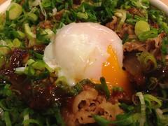 Green Scallion and Beef Bowl with Soft Boiled Egg @Sukiya, Zhongshan Park, Shanghai (Phreddie) Tags: china food lunch japanese restaurant yum shanghai beef egg bowl eat scallion sukiya