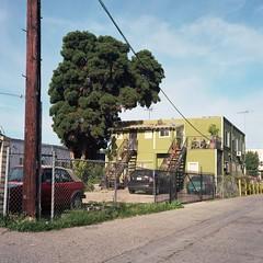Red Green Alley (ADMurr) Tags: color film rollei la kodak union explore pico planar ektar