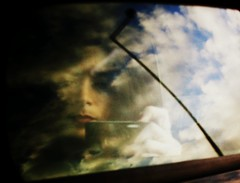 In the sky (PattyK.) Tags: sky selfportrait reflection me clouds myself mirror greece ilovephotography