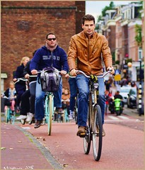 Peddling Home (AJVaughn.com) Tags: people house holland water netherlands dutch amsterdam bicycle alan garden james j boat canal photo waterfront outdoor frites trail vehicle es ja vaughn nederlands amstel fiets watercourse gracht topaz ajvaughn ajvaughncom alanjv