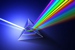 Light dispersion illustration. (a_b8209) Tags: blue light abstract color colour glass colors lens 3d rainbow education colorful technology shine spectrum bright background object render experiment prism optical science beam research laboratory refraction laser physics split spectral scientific russianfederation dispersion