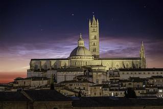 Cityscape of Siena, Italy